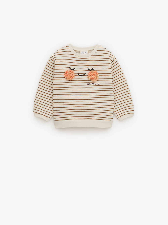 Dzemperis Su Veideliu Ir Detalėmis Zara Lietuva Baby Girl Sweatshirt Girl Sweatshirts Soft Sweatshirts [ 1337 x 1000 Pixel ]