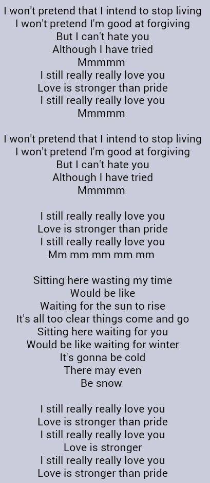 Sade Love Is Stronger Than Pride Romantic Song Lyrics Sade
