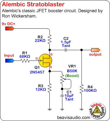 Schematic - Alembic Stratoblaster | Electronics & Electric ... on