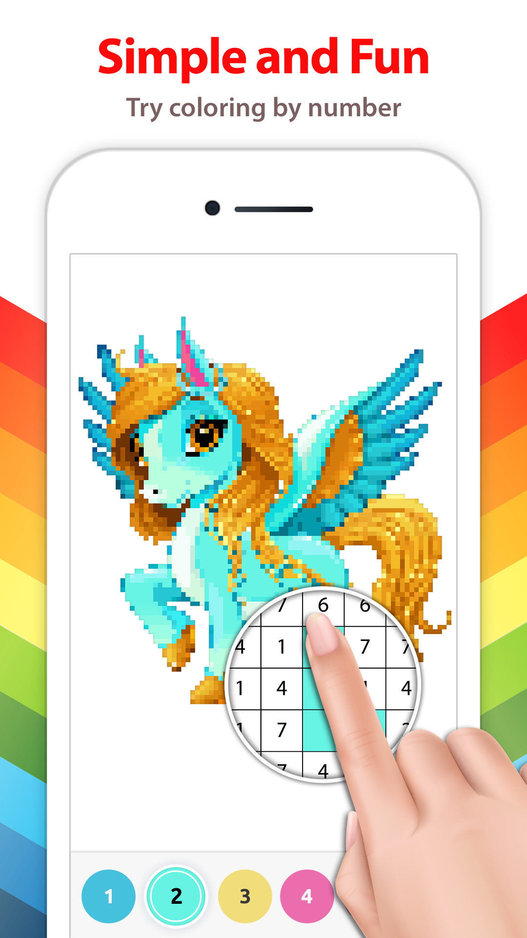 Unicorn Color By Number Pixel Art App Takes You To A Whole New World Of Paint By Numbers Apps Full Of U Coloring Book App Coloring Books Love Coloring Pages