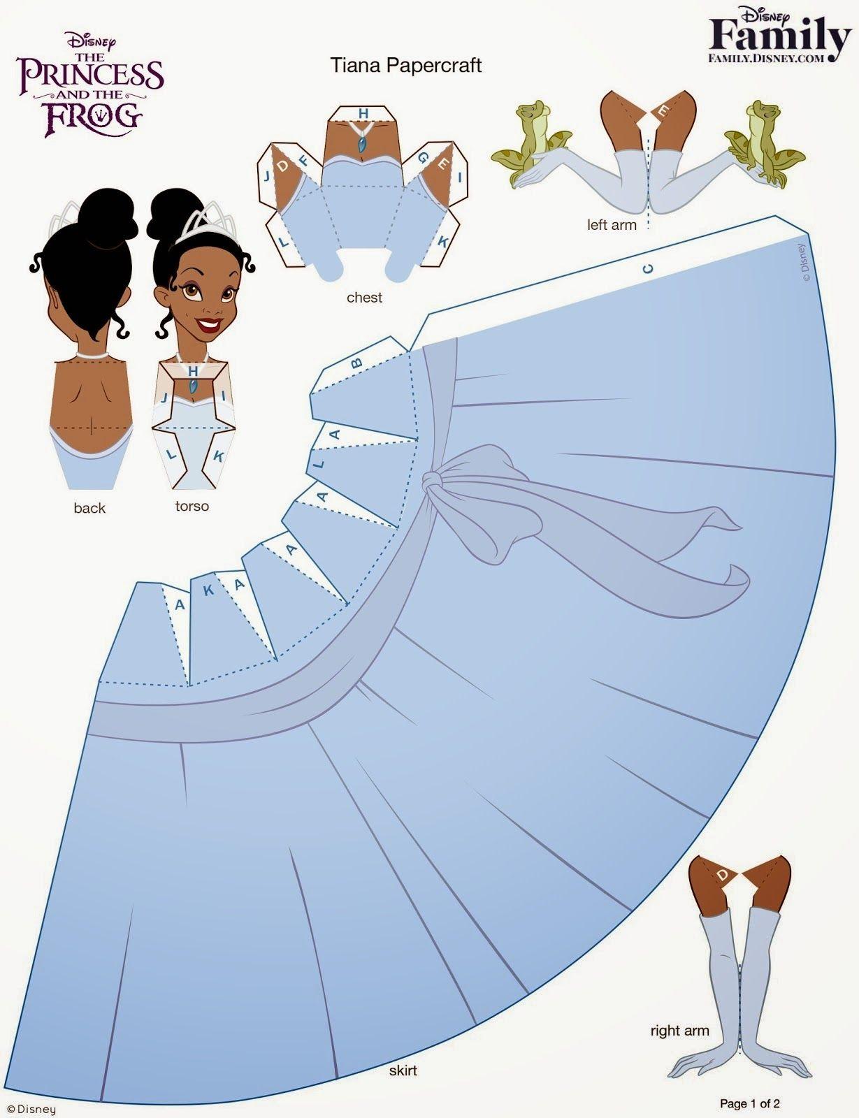 Santa Clara Artesanato Papercraft Princesas