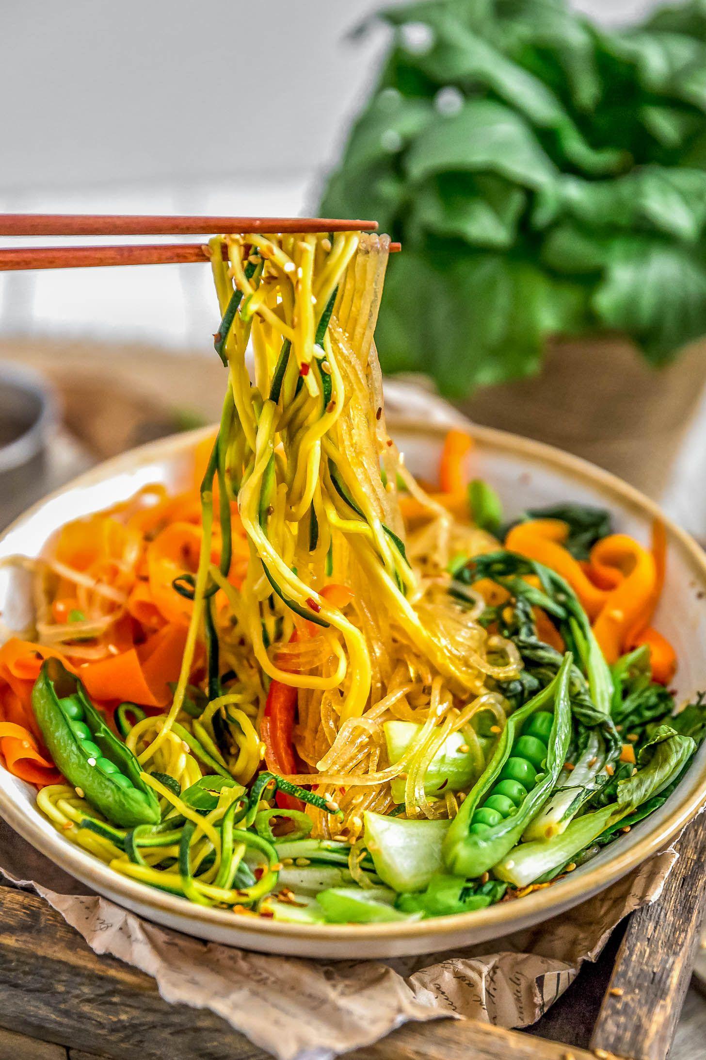 Vegan Korean Glass Noodles Jap Chae