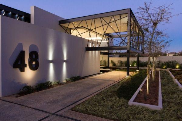 modernes designer haus geometrischen formen eingang | Architektur ...