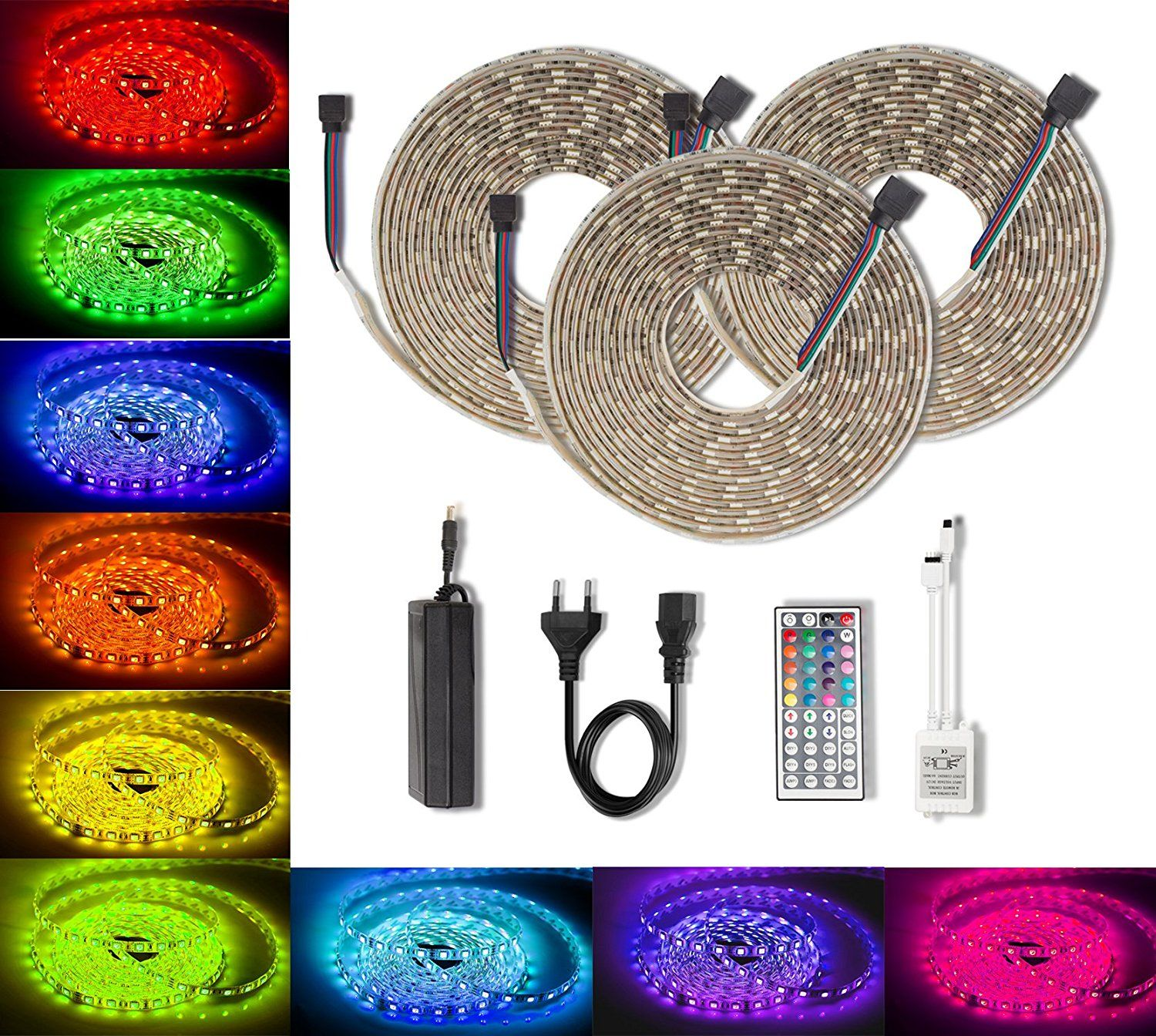 Color Changing Rope Lights Entrancing Quntis Led Strips Light Rgb High Density Dimmable 164Ft 5M Rgb Smd Design Inspiration