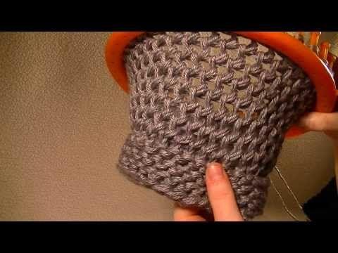Loom Knitting Figure 8 Stitch On A Round Loom Youtube