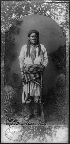 Chatto 1860 1934 Chiricahua Apache Subchief Apache Scout Holding Rifle