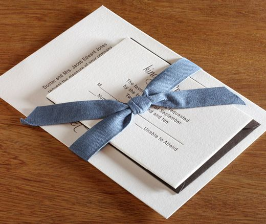 Canvas Ribbon Belly Band For Wedding Invitation Suites