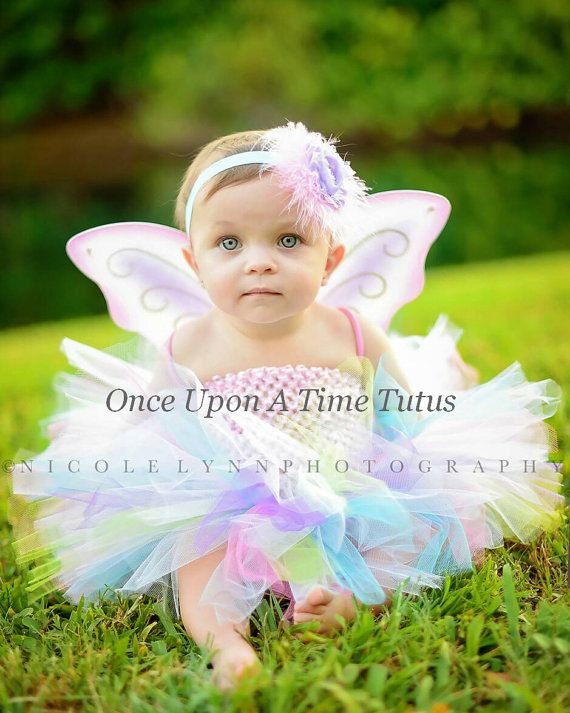 rainbow fairy tutu or dress newborn 3 6 9 by onceuponatimetutus