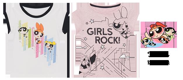 Camisetas meninas superpoderosas para a C&A