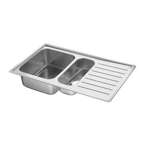 Merveilleux VATTUDALEN Inset Sink, 1 ½ Bowl W Drainboard, Stainless Steel