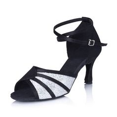 99 27 Chaussures Femmes Pailletes de scintillantes Satin danse TSwwOB