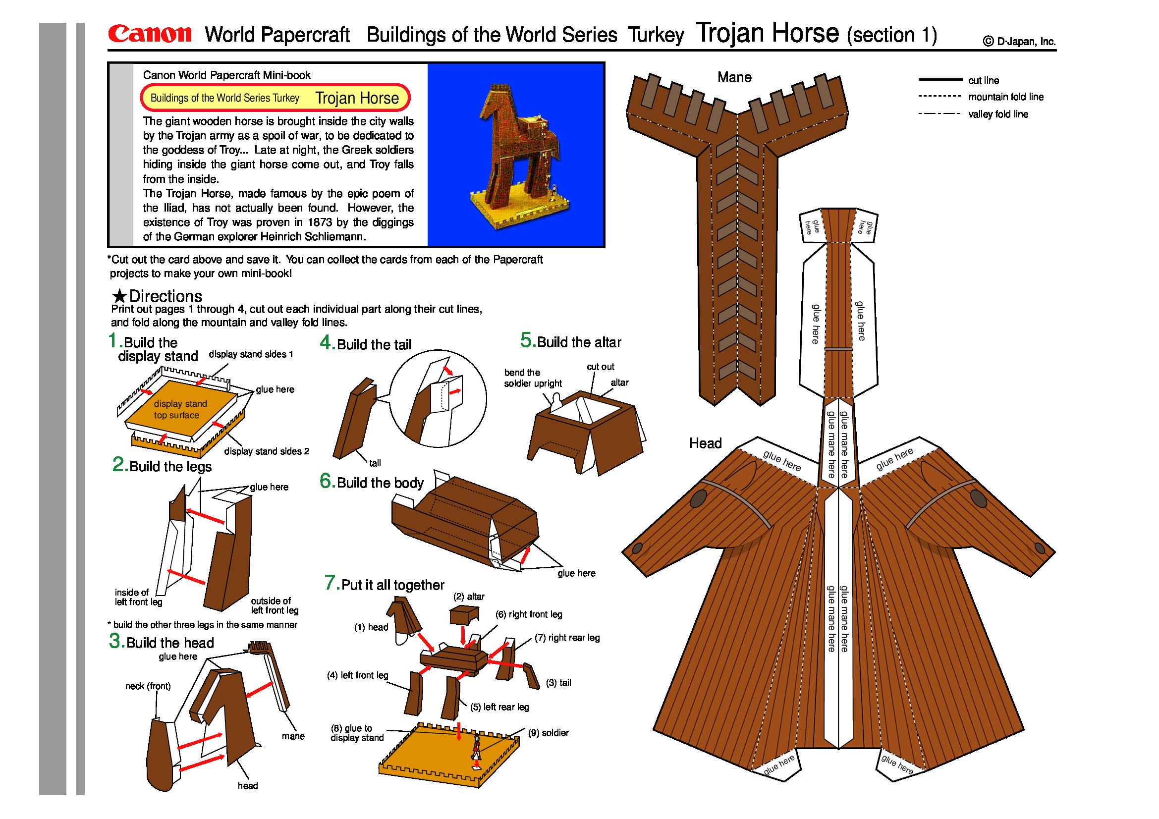 Recortable Caballo De Troya Documents Con Imagenes Troya