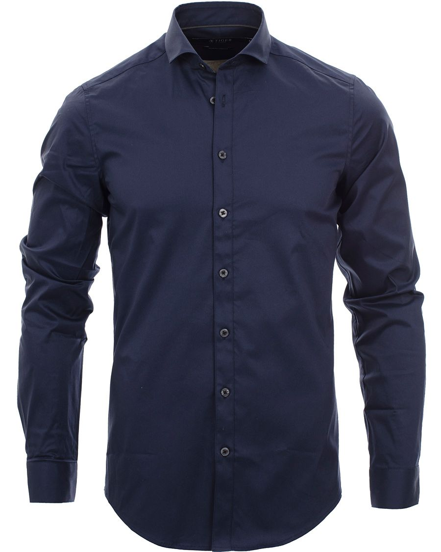 Tiger of Sweden Steel 1 Shirt Navy i gruppen Skjortor / Businesskjortor hos Care of Carl AB (11436111r)