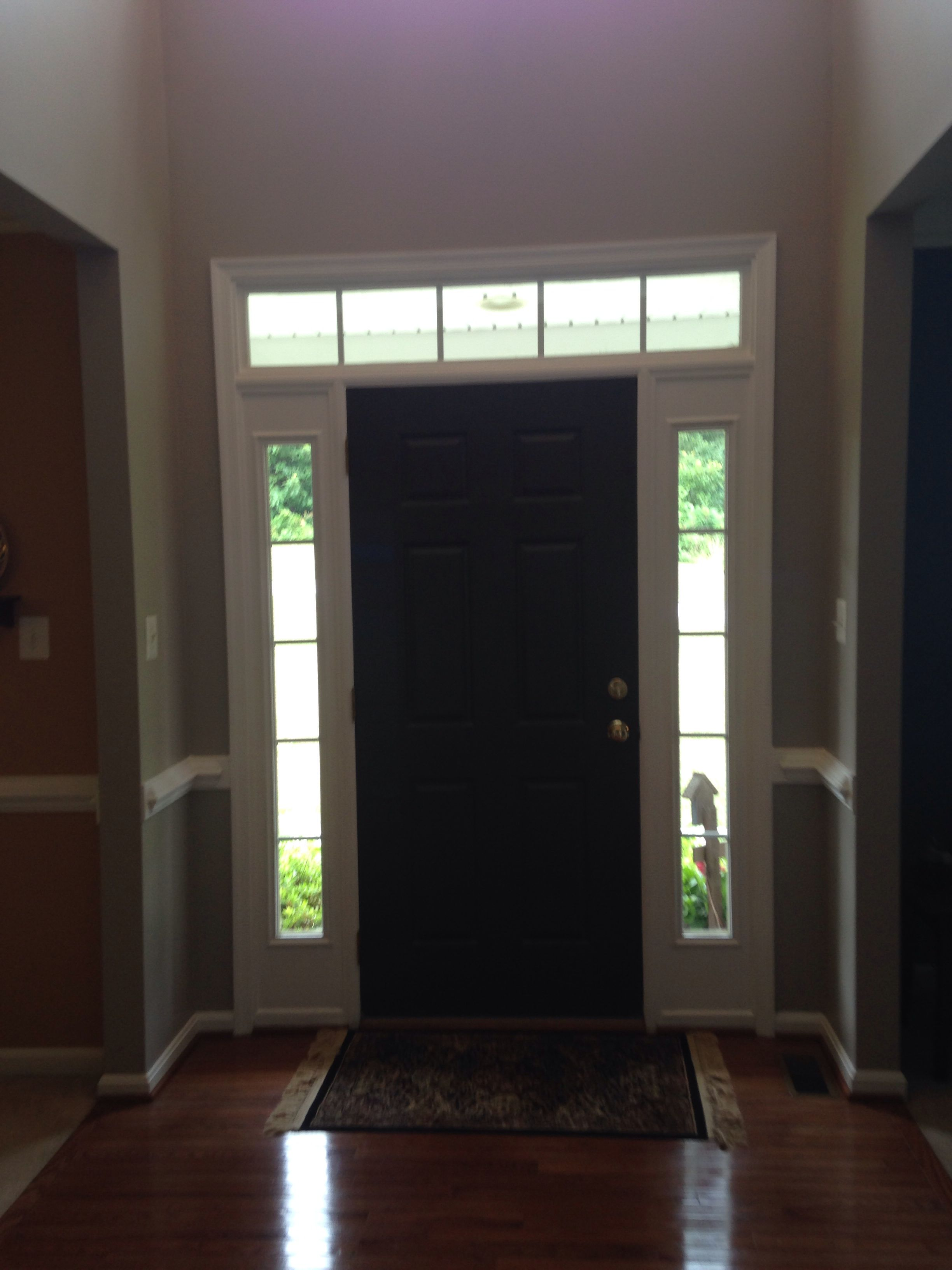 Best Behr Graceful Gray Walls And Miners Coal Door Paint 400 x 300