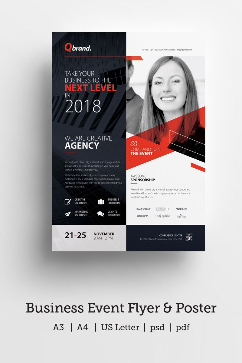Business Event Conference Flyer Poster Corporate Identity