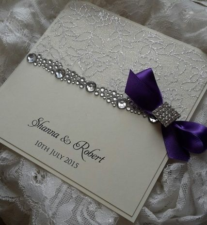 Exceptionnel Elegant Wedding Invitations With Crystals