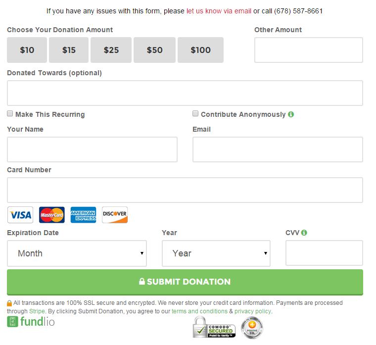 Online Donation Form  Acdd Brief