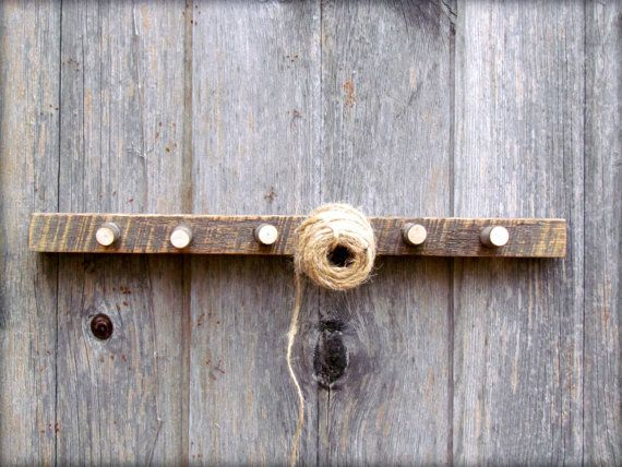 6 stick maple wall hook by IvyAxe on Etsy, $22.00