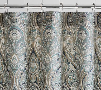 Mackenna Shower Curtain Fabric Shower Curtains Curtains Ruffle