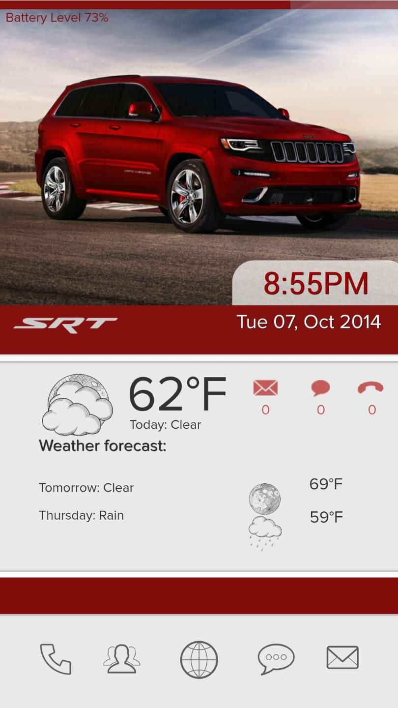 [Homepack Buzz] Check out this awesome homescreen! John Whitehead   My Homepack This is a modification to Grand Cherokee SRT!