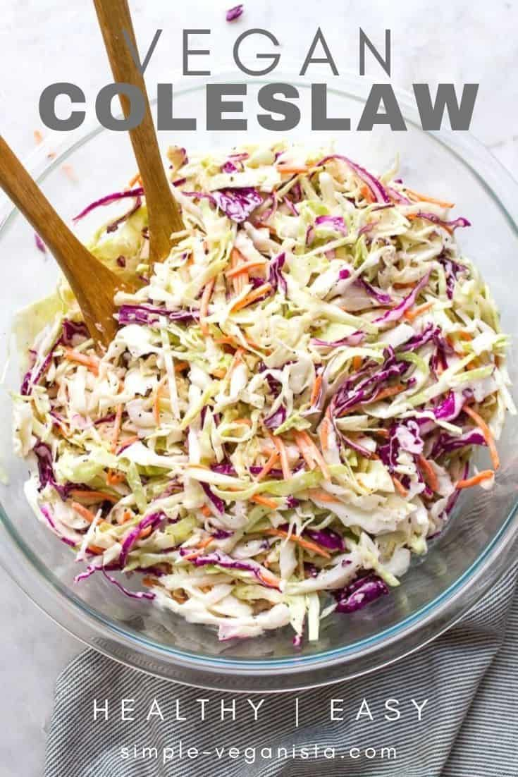 Vegan Coleslaw (Classic Recipe!) - The Simple Vega