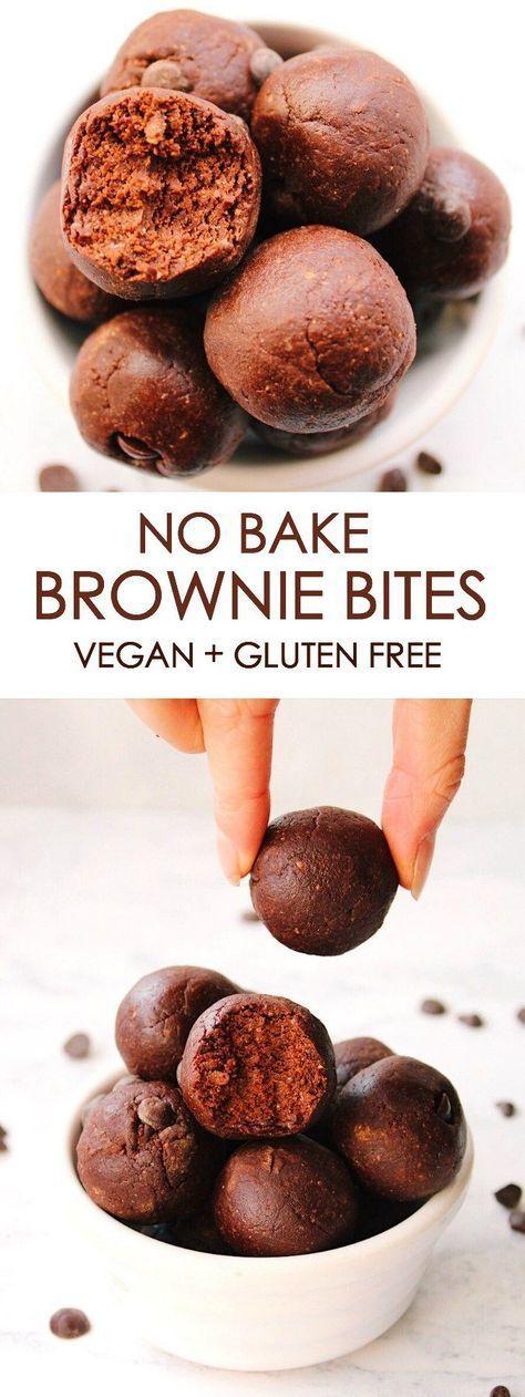 NO BAKE BROWNIE BITES {vegan, gluten free} images