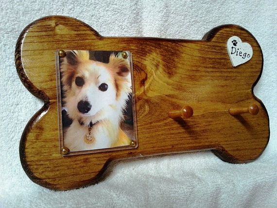 Holiday Special  Collar/Leash Rack w/ FREE ID by NiagaraHandmade