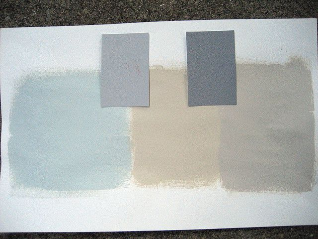 All Glidden Colors From Left To Right Gentle Tide Pebble Grey Water Chestnut Granite Sand White