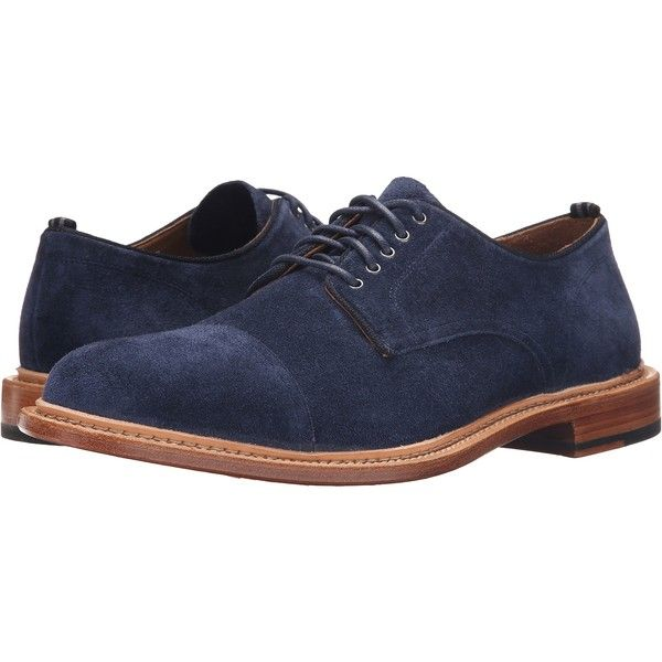 Cole Haan Willet Cap Oxford (Blazer Blue Suede) Men's Lace up casual...  ($216) ❤ liked on Polyvore featuring men's fashion, men's shoes, men's  dress shoes, ...