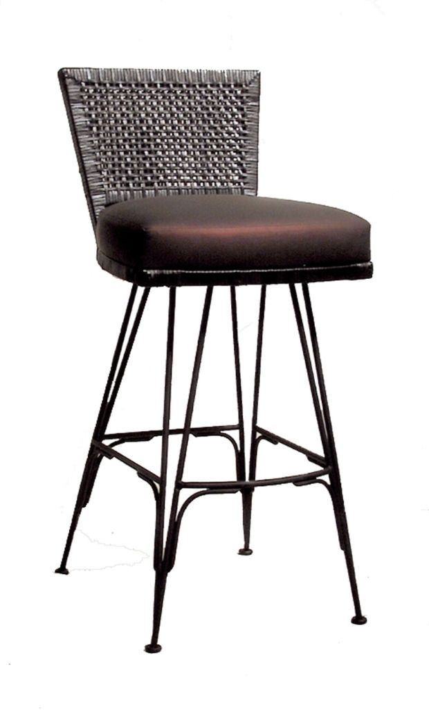Interior Fascinating Custom Wrought Iron Bar Stools From Wrought