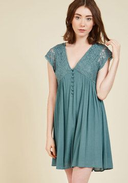 What the Whirl Needs Now Mini Dress. Accentuate your whimsical spins with the help of this teal sundress! #blue #modcloth