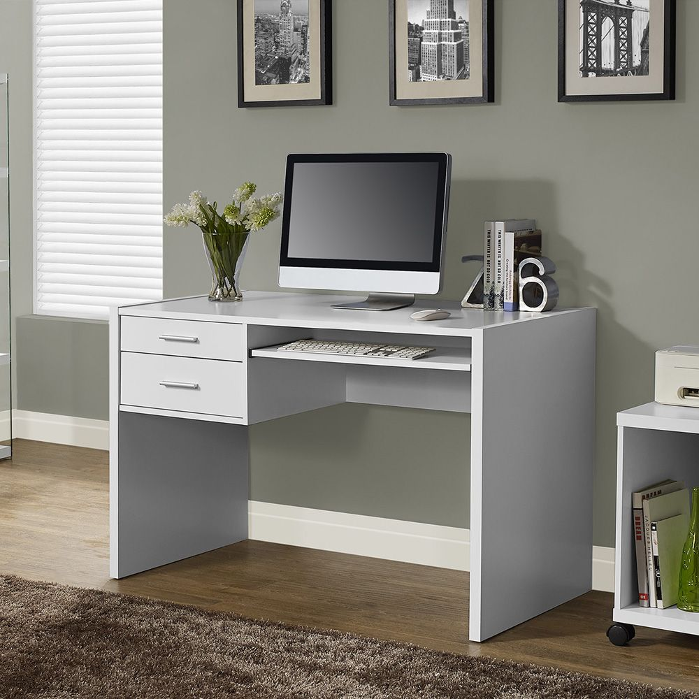 Buy Computer Table Online White Desk With Drawers White