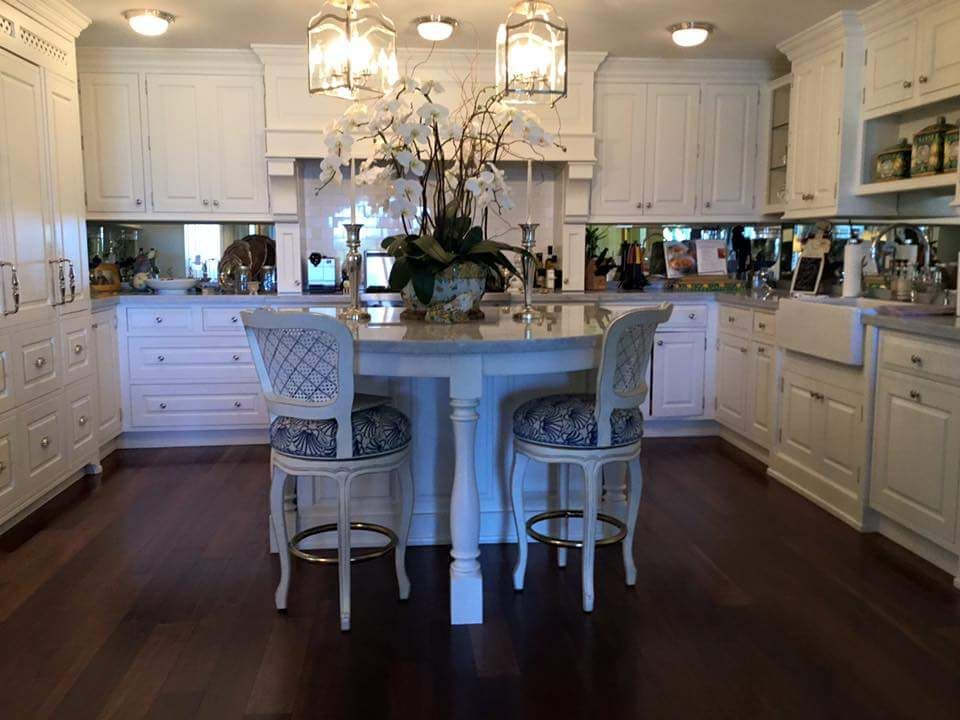 Custom Kitchen Featuring White Painted Beaded Inset Cabinetry In