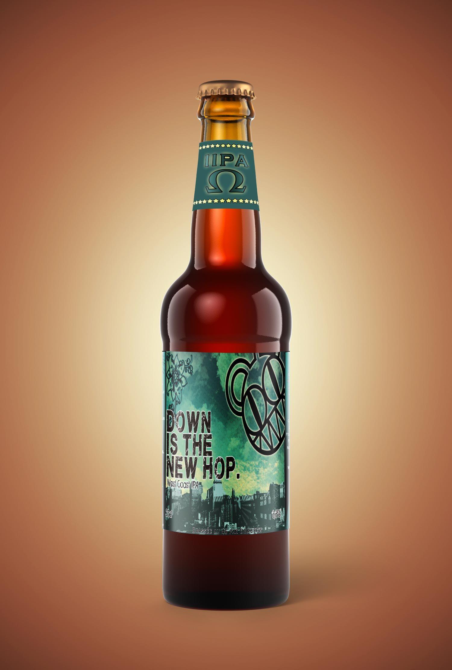 """""""Down is the Hop"""" est clin d'oeil à Radiohead et leur chanson """" Down is the new Up """" sur l'album In Rainbows. Bière de style double IPA US, très parfumée aux agrumes et fruits de la passion, titrant 8,8%. Douce et corsée en même temps avec une amertume qui se mêle parfaitement avec le sucre et l'alcool. #imperialipa #IIPA #radiohead #craftbeer #ohmbrew #homebrew #stanleydonwood #beerporn #thomyorke"""
