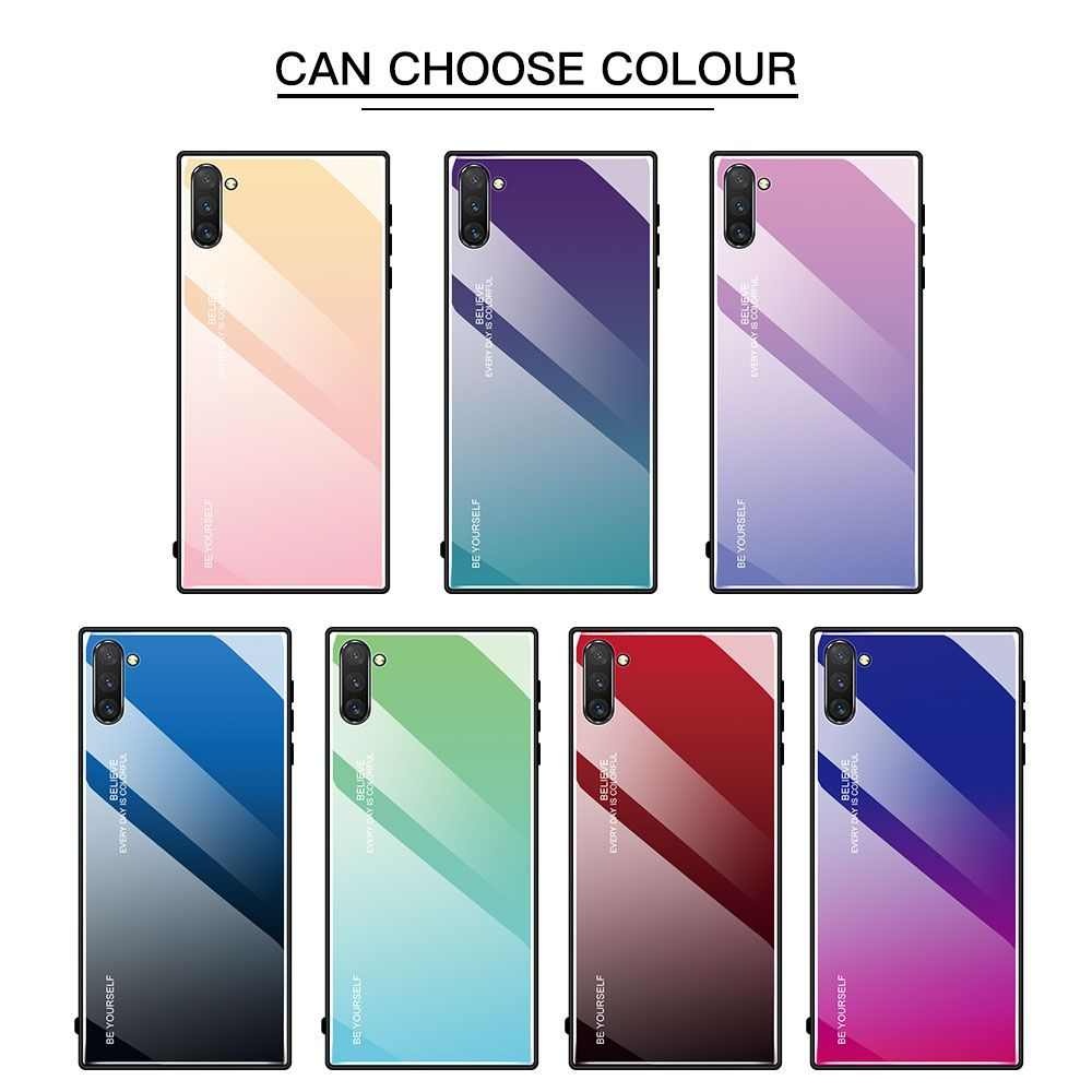 Gradient Tempered Glass Case For Samsung Galaxy A50 A70 Note 10 9 8 S8 Samsung Galaxy Galaxy Samsung