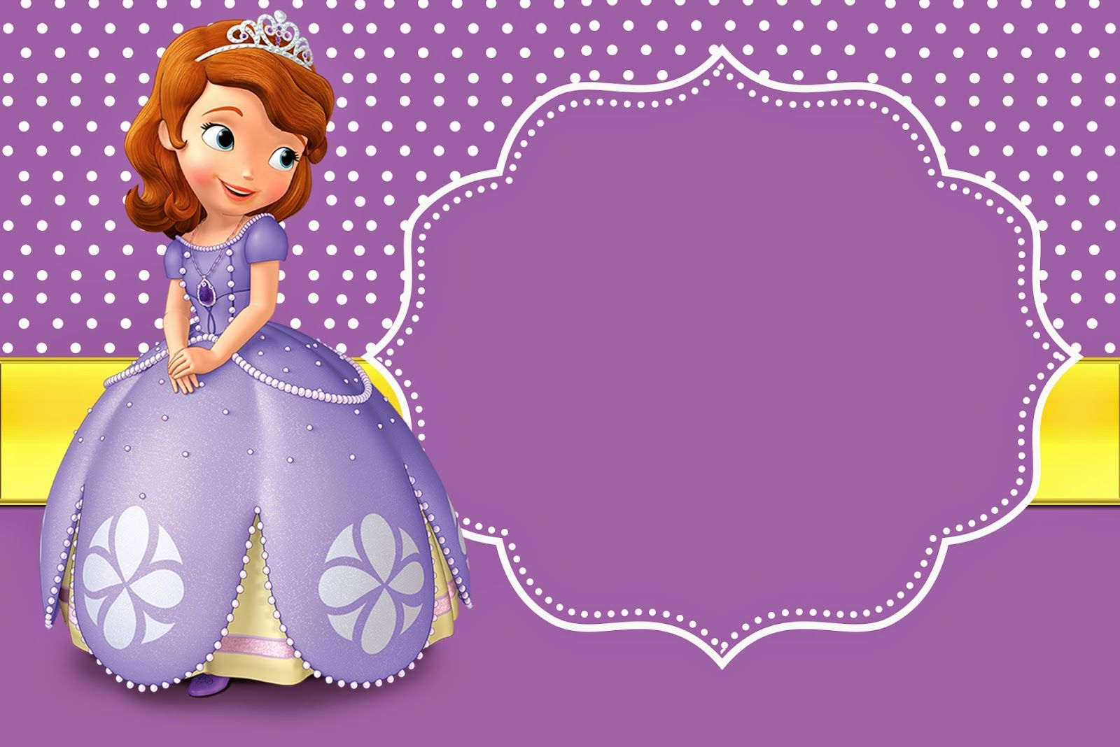 20 Sofia The First Birthday Invitations Printed 20 Or More Printed Invites With Envelop Sofia Birthday Invitation Sofia Invitation First Birthday Invitations