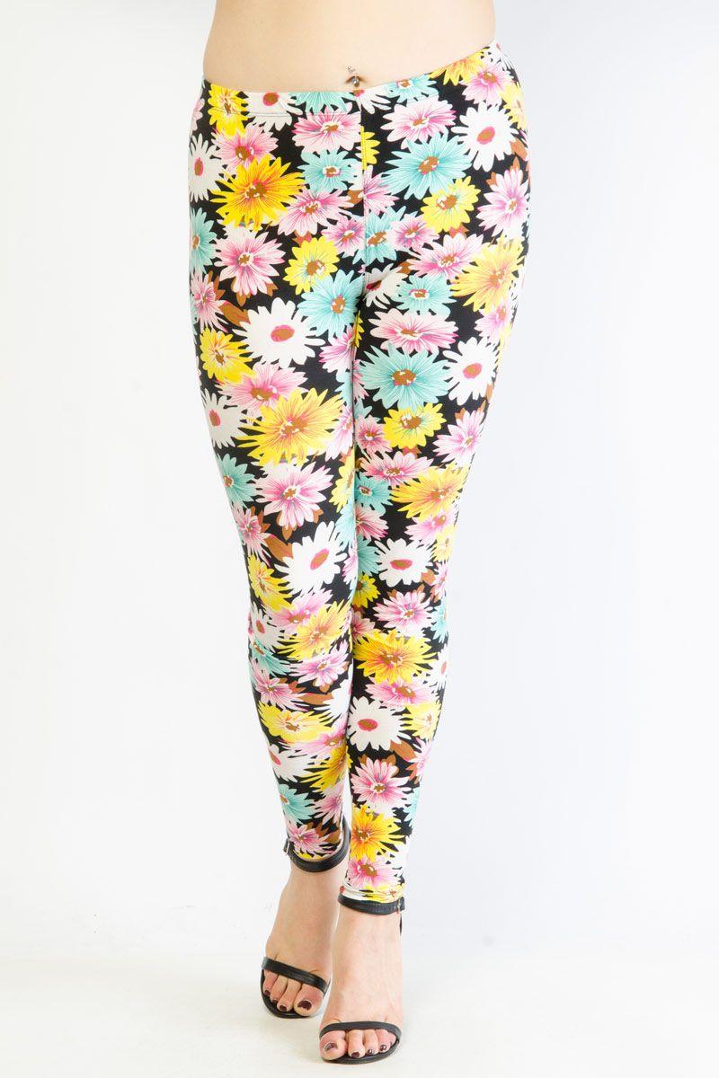 ac43134903ff29 Happy Daisy Print Leggings | clothing items