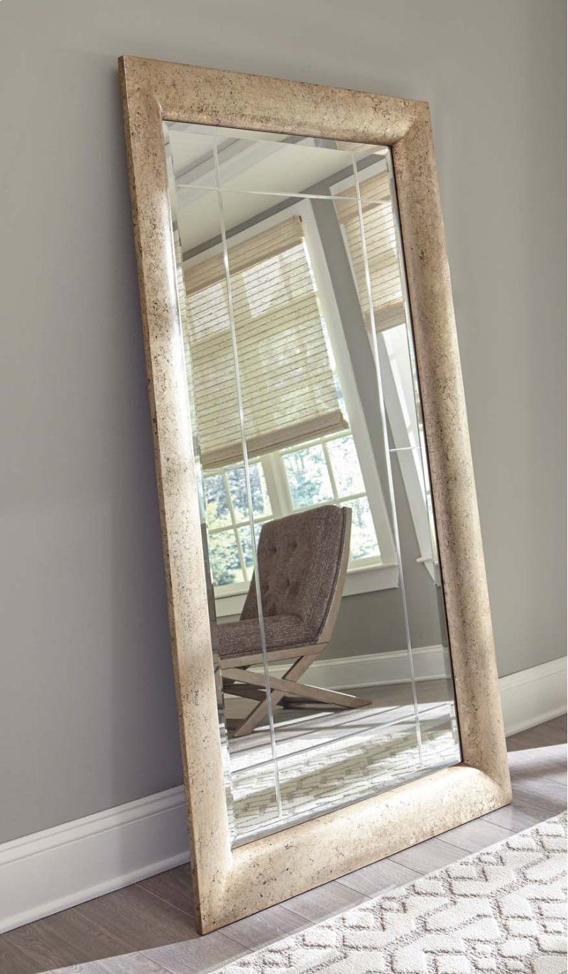 """Antique Gold Finished Accent Mirror with 1"""" Bevel & Etched"""