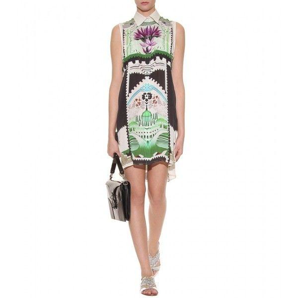 Mary Katrantzou Gloria Botanist Silk Dress ($1,432) ❤ liked on Polyvore