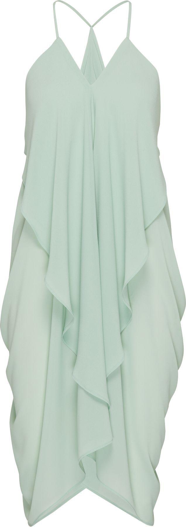 Chiffon-Dress mit Volants 'Karola' von minimum. #ABOUTYOUxSPRING