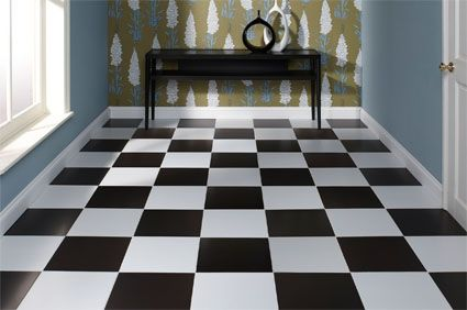 Black And White Floor Tile DIY Bath Renovation From Dated to