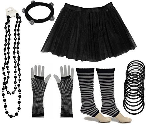 afb83ec9bd Tutu Skirt Set -Black, White or Neon. Low Cost and ideal for hen nights, fun  runs, 80s dress-up.