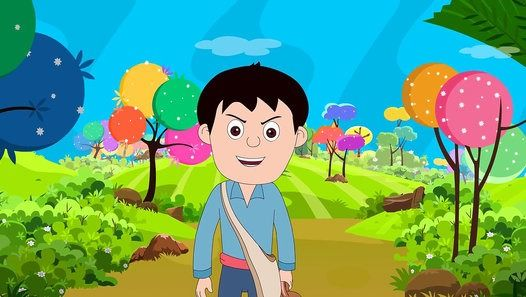 Watch the video «Kids Stories - THE HUNTER AND THE RABBIT
