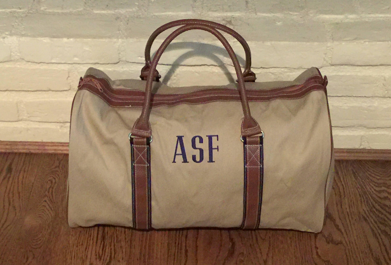 Personalized Men's Duffle Bag - Monogrammed Duffle Bag - Custom Duffle Bag  - Personalized Duffle Bag