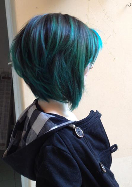 short blue ombre hair blue turquoise pinterest blue