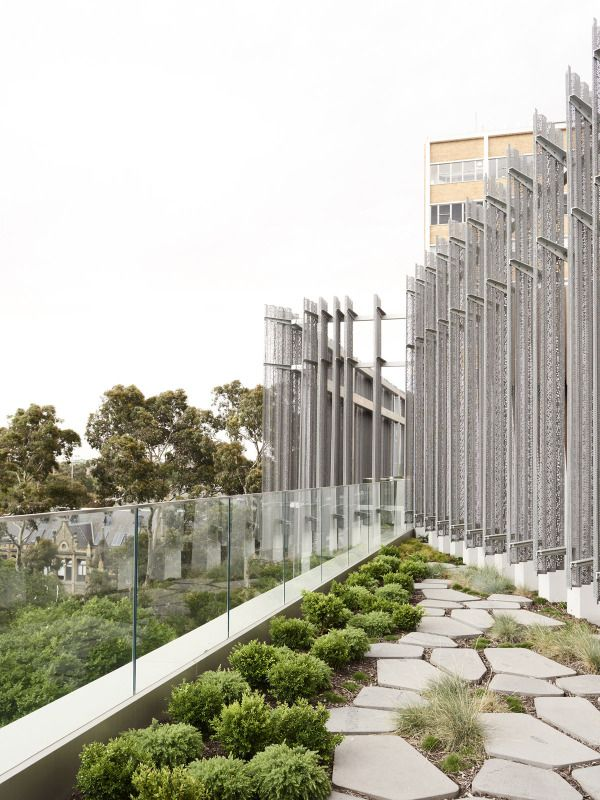 Japanese Roof Garden At The Melbourne Design School University