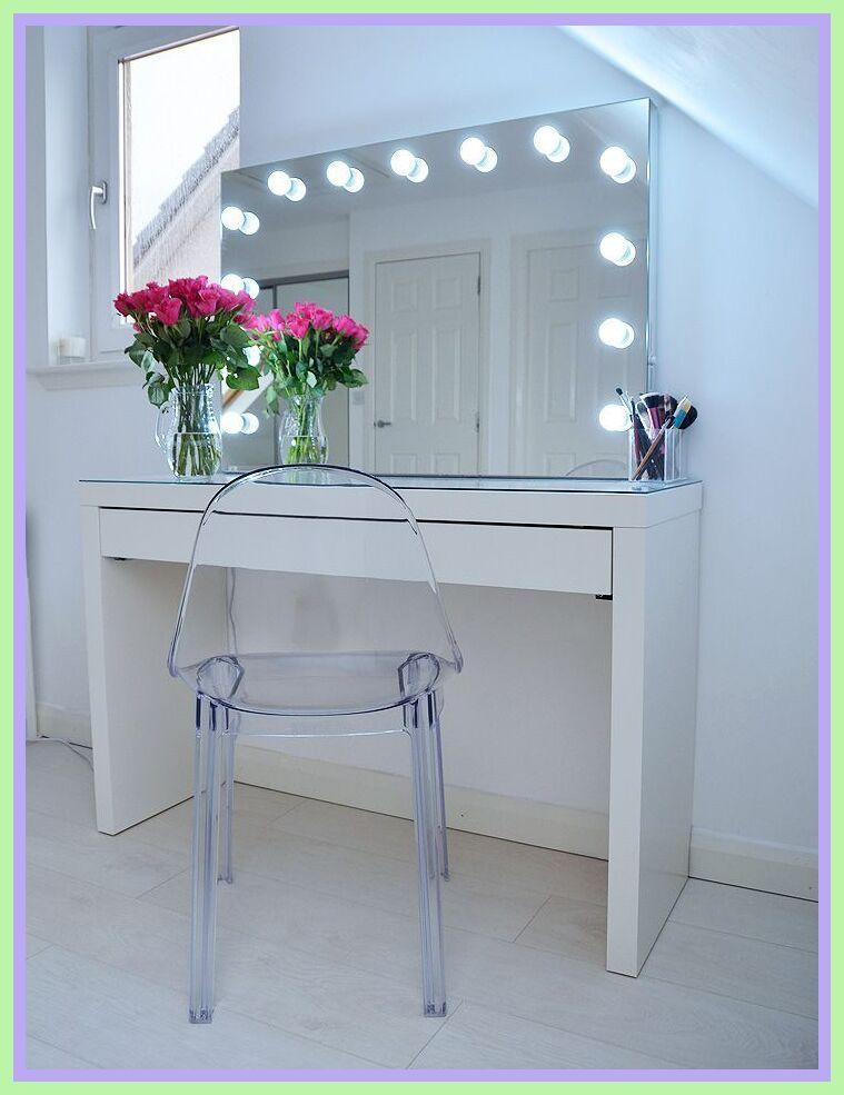 120 Reference Of Vanity Desk Lights In 2020 Malm Dressing Table Ikea Makeup Storage Vanity Desk With Lights