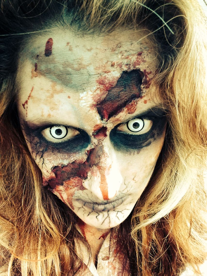 Creepy zombie makeup by Natasha Cole