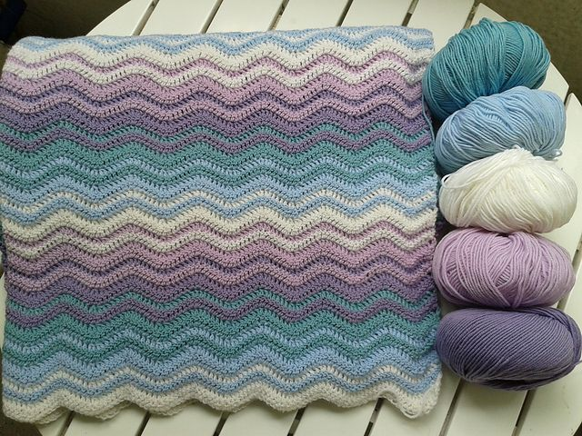 Neat Ripple Crochet Blanket Patterns Crochet Ripple Blanket Crochet Ripple Baby Blanket