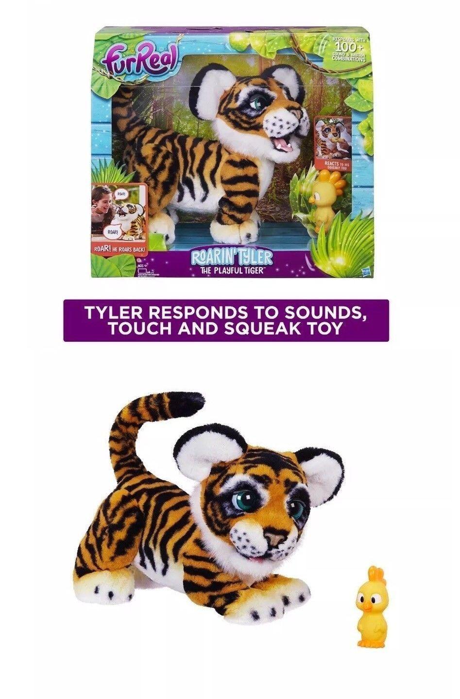 Furreal Friends 38288 Nib Furreal Friends Roarin Tyler The Playful Tiger Pet Interactive Toy Kids Buy It No Fur Real Friends Squeak Toy Interactive Toys